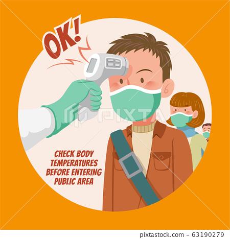 Check body temperature 63190279