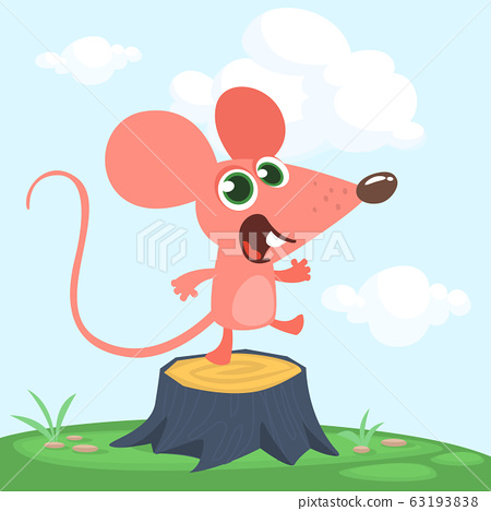 Cute Cartoon Mouse Stock Illustration 63193838 Pixta