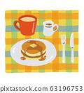 热蛋糕和咖啡 63196753