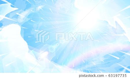 藍天和陽光背景illustration_rainbow_weather rain_16:9 63197735