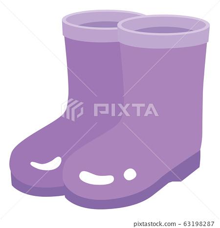 Illustration of purple boots 63198287
