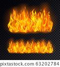 Realistic fire or campfire, bonfire on transparent 63202784
