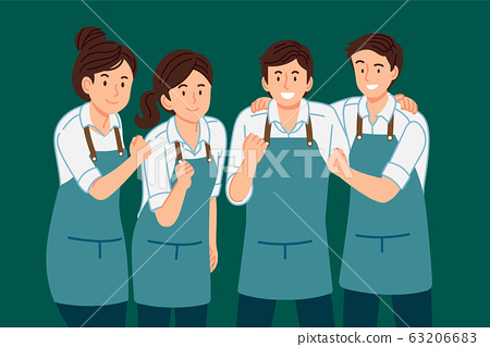 Good staff service team have work together to succeed. Happy working life. 63206683