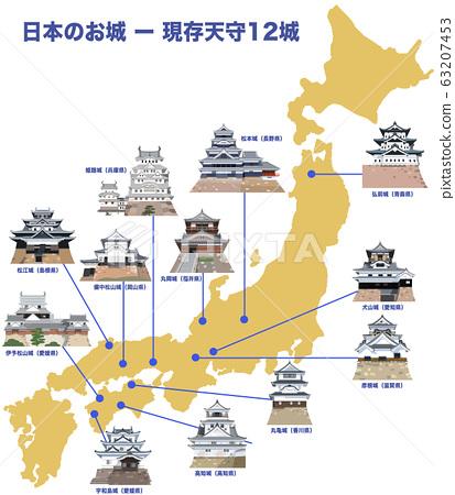 日本城堡-12座城堡塔樓 63207453