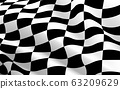 black and white checkered flag texture background 63209629