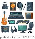 Music studio equipment for sound recording 63211715