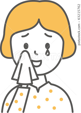 Woman pose happy tears simple 63215762