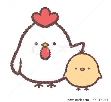 雞和孩子 63216961