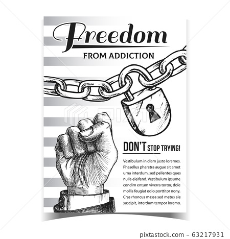 Freedom From Addiction Advertising Poster Vector 63217931