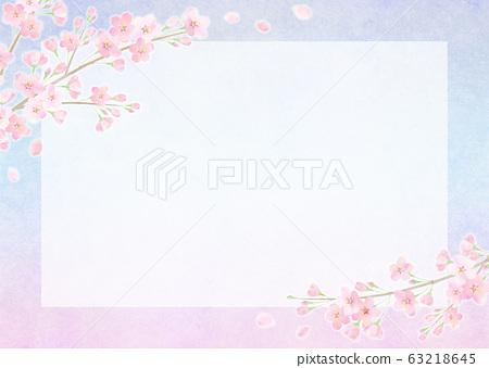 배경 소재 벚꽃 왕 벚꽃 나무 63218645