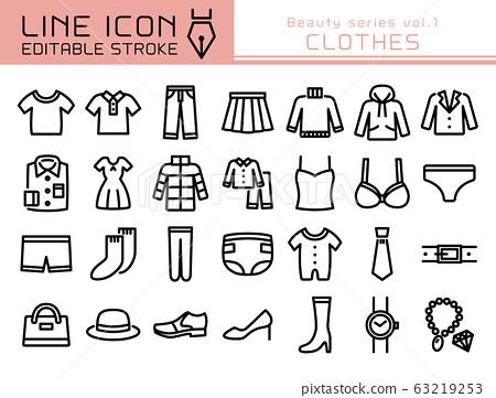 Line Icon美容系列vol.1衣服 63219253