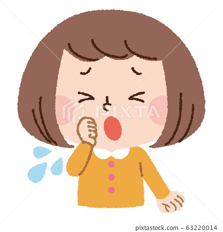 女孩沒有面具咳嗽 63220014