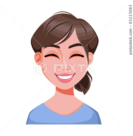 Face expression of beautiful business woman 63223063