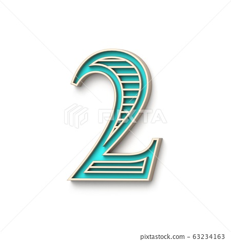 Classic old fashioned font Number 2 TWO 3D 63234163