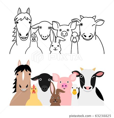 農場動物組集 63238825