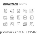 Document Line Icons Set 63239502