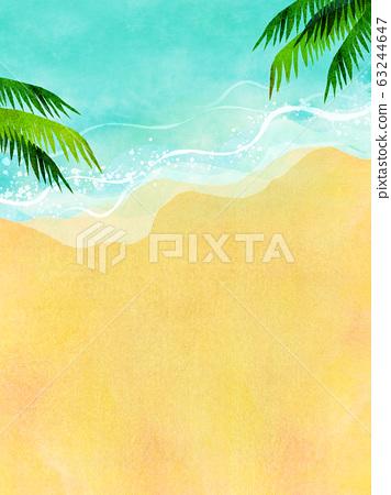 여름 바다 해변 배경 소재 63244647