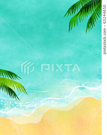 여름 바다 해변 배경 소재 63244650