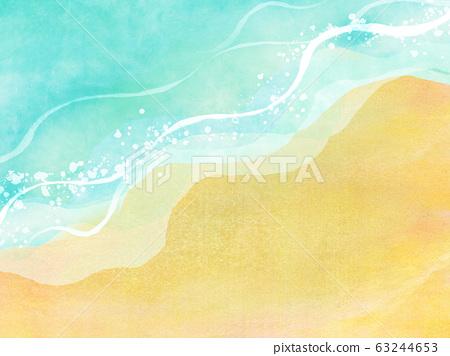여름 바다 해변 배경 소재 63244653