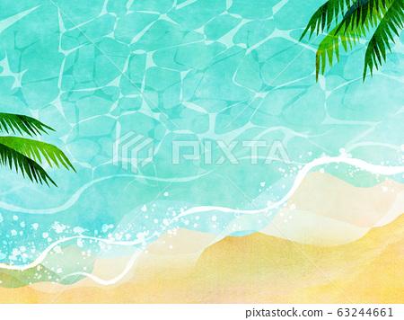 여름 바다 해변 배경 소재 63244661