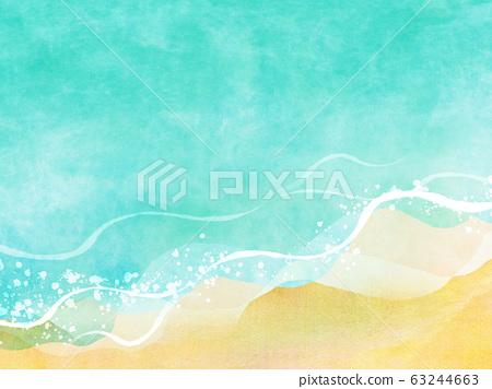 여름 바다 해변 배경 소재 63244663