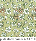 Narcissus floral pattern. Seamless design 63244718
