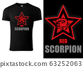 Black T-shirt Design with Scorpion 63252063