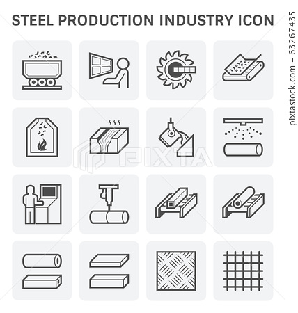 steel production icon 63267435