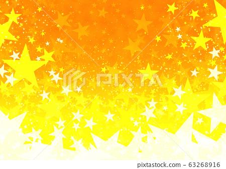 橙色幻想星背景 图库插图