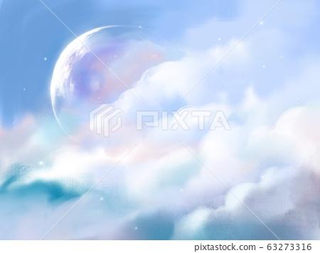 滿天星斗的天空空間風景行星 63273316