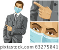 Man with mask on his face 63275841
