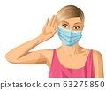 Woman with mask on her face 63275850