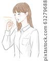 咳嗽的女人 63279688