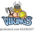 Viking Tennis Sports Mascot 63280267