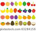 손으로 그린 스타일 귀여운 과일 세트 63284156