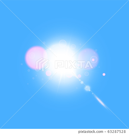 Vector transparent sunlight special lens flare light effect 63287528
