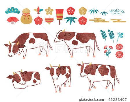 新年牛 63288497