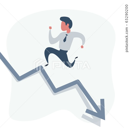 businessman runs up the arrow 63290200