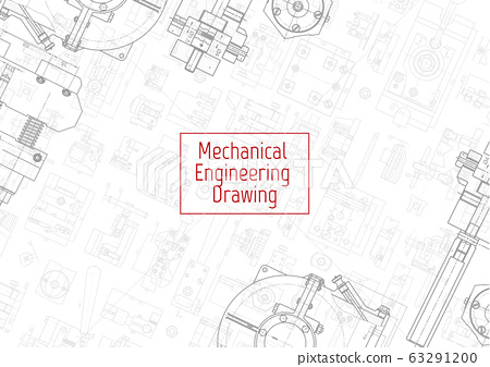 Engineering backgrounds. Mechanical engineering drawings. Cover. Banner. Technical Design. Draft. 63291200