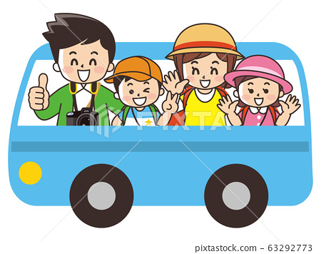 Family traveling by bus 63292773