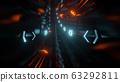 futuristic neon light tunnel 3d rendering illustration background 63292811