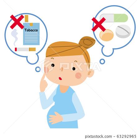 孕婦:香煙和藥品 63292965