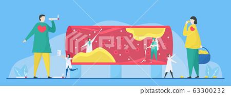 Cardiology vector illustration. 63300232