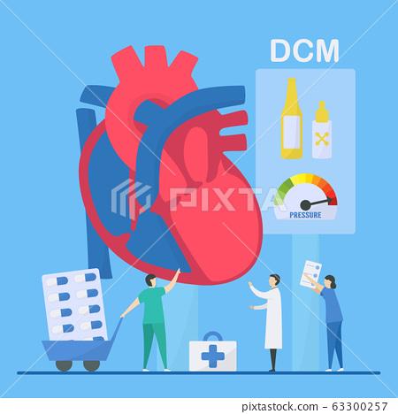 Cardiology vector illustration. 63300257