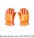 Colorful mens gloves. Adventure collection. Isolated background. Vector illustration. 63309228