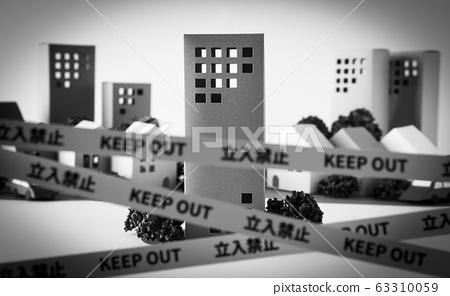 限制线不要进入事故现场事故财产边界线犯罪房地产邻居故障录像带KEEP OUT 63310059