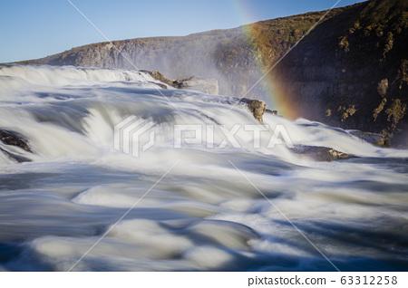 Gulfoss, waterfall in Iceland 63312258
