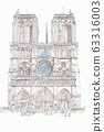 World Heritage Cityscape, France, Paris, Notre Dame Cathedral 63316003