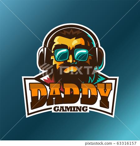 Daddy gaming, E sport vector logo 63316157