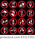 Prohibition signs 63317261